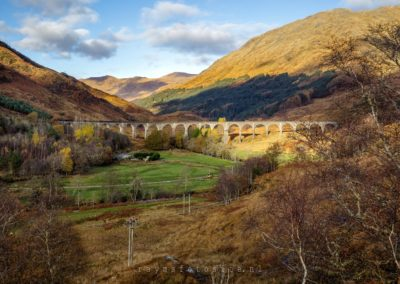 Glenfinnan Viaduct. Bekend van Harry Potter.