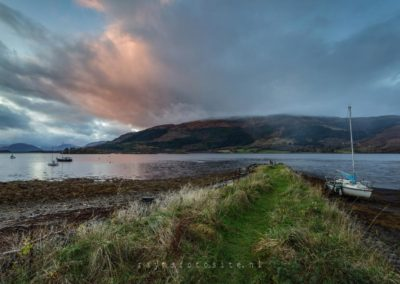 Schotland, Loch Leven, in Perth and Kinross.