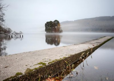Mist over Loch Tay.