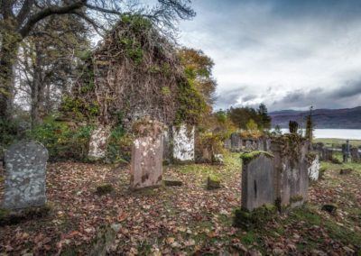 Schotland. Lochcarron, Old Burial Ground. Gave begraafplaats zeg!