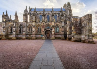 Rosslyn Chapel. Bekend van The Da Vinci Code.