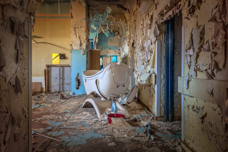 urbex locatie Bangour Village Hospital in Schotland.